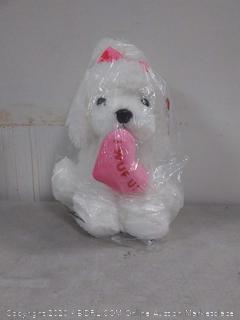 I wuf you stuffed animal dog