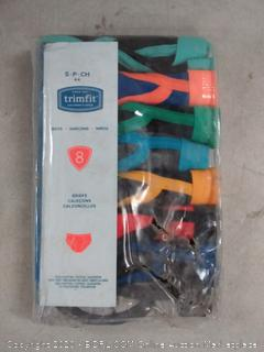 trimfit boys briefs 8 pack size 4 -6