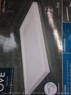 Ove bathroom shower base 48 x 32 in (new in box)