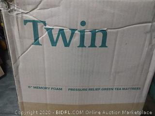 Venice twin 6 inch Memory Foam pressure relief green tea mattress