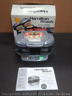 Hamilton Beach Dual Breakfast Sandwich Maker (powers on)