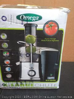 Omega extra large shoe high speed Centrifugal juicer(powers on)