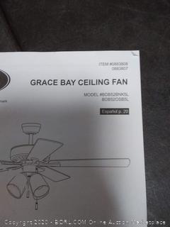 Harbor Breeze Grace Bay 52-in Bronze LED Indoor Ceiling Fan with