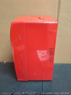 Coca-Cola retro fridge (powers on)(door latch doesn't work)