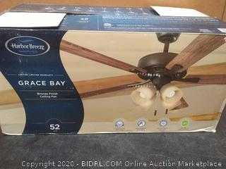 Harbor Breeze Grace Bay 52-in Bronze LED Indoor Ceiling Fan with