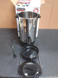 professional series coffee urn (powers on)