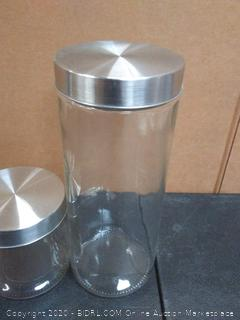 home Basics glass canister two piece