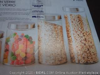 home Basics glass canister set 3 count