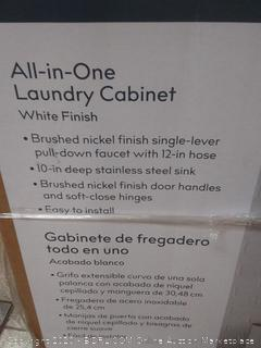 style selection all-in-one laundry cabinet