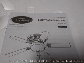 Harbor Breeze lynstead specialty Bronze finish ceiling fan