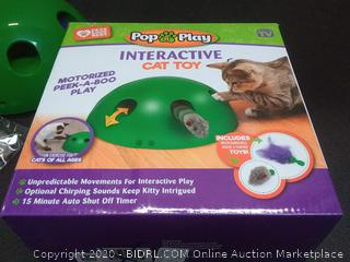 Pop N Play interactive cat toy motorized peekaboo