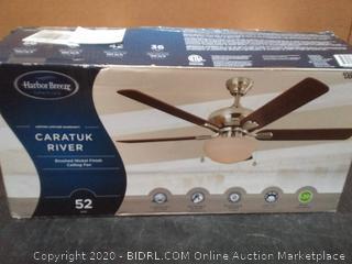 Harbor Breeze caratuk River brushed nickel ceiling fan 52 in
