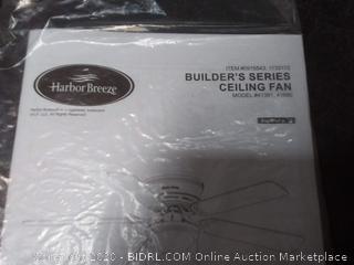 Harbor Breeze Builders series 52-inch brushed nickel finish ceiling fan