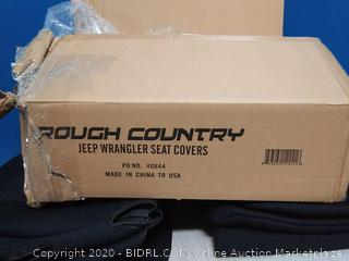 Rough Country Neoprene Seat Covers | (fits) 1997-2002 [ Jeep ] Wrangler TJ | 1st/2nd Row/Water Resistant | Black (online $135)