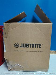 justrite write 10 gallon oily waste can (online $56)