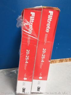 Filtrete Micro Allergen Defense Deep Pleat AC Furnace Air Fliter 20 25 x 4in(2pck) online $51