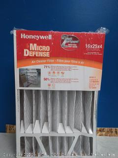 Honeywell Home MicroDefense AC Furnace Air Filter 16 x 25 x 4 MERV 8 (2 pk) online $30