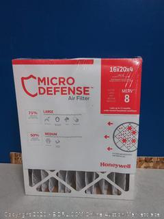 MicroDefense by Honeywll Filter 16x20x4 (online $22)