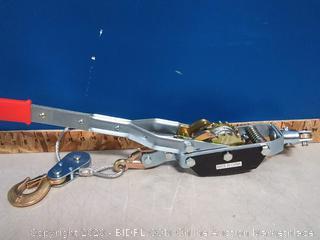 autobodynow 4-ton dual gear hand puller 3 hooks