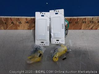 Lutron Maestro Motion Sensor Switch, No Neutral Required, 250 Watts, Single-Pole, MS-OPS2-WH, White