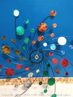 Double Rotating Confetti Metal Kinetic Garden Stake Wind Spinner (online $79)