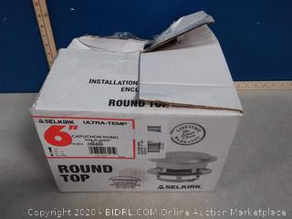 Selkirk Metalbestos 6T-CT 6-Inch Stainless Steel Round Top chimney cap