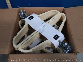 Velvet Suit Hangers, 100 Pack (Ivory)