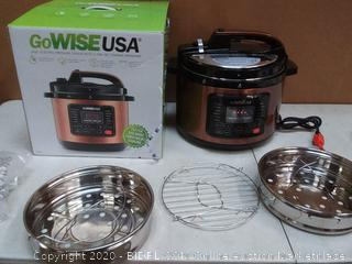 gowise USA 10 quart electric pressure cooker with 12 presetting cooking programs( powers on)