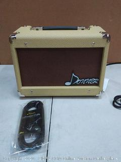 Donner 15W AMP Acoustic Guitar Amplifier Kit DGA-1 with 10 Feet Guitar Cable (powers on)