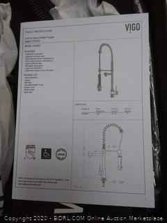 Vigo VG02007MB Vigo 1.8 GPM Pre-Rinse Swivel Kitchen Faucet with Escutcheon(Retails $173)