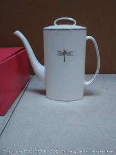 Kate Spade New York Coffee Pot & Lid(Platinum Trim)(Retails $179)