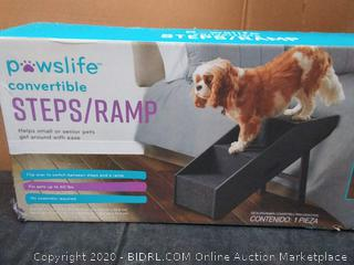 Pawslife Deluxe Convertible Pet Step Ramp dog cat bed stairs steps
