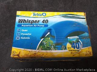 whisper 40 aquarium air pump