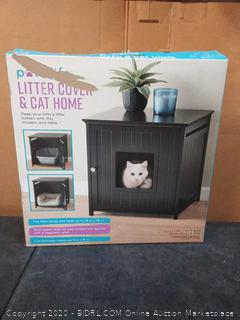 Pawslife Litter Cover & Cat Home For Litter Boxes & Beds Up To 18