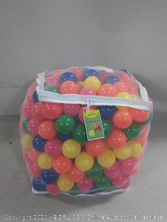 Click N' Play Value Pack of 400 Phthalate Free BPA Free Crush Proof Plastic Ball, Pit Balls - 6 Bright Colors in Reusable and Durable Storage Mesh Bag with Zipper (online $48)