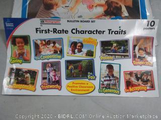 First–Rate Character Traits Bulletin Board Set Grade PK-5