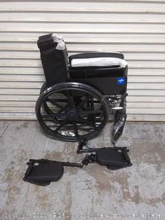 insura 18in K1 basic wheelchair with full-length arms and elevating leg rest (online $158)