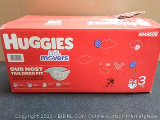 Huggies Little Movers, Baby Diapers, Size 3, 84 Ct