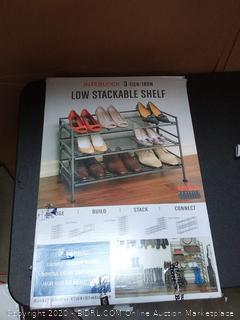3-Tier Iron Stackable Shoe Shelf