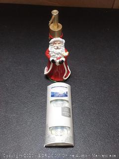 Yankee Candle scent plug 2 pack Santa Claus soap dispenser