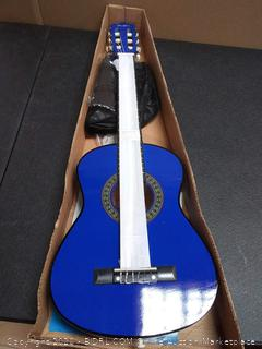 music Alley ma-52 1/2 size 30 inch Junior classical guitar blue
