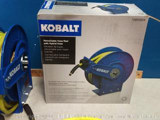 Kobalt retractable hose reel with hybrid house (online $106)
