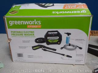 Greenworks 1700-PSI 1.2-GPM Cold Water Electric Pressure Washer(powers on/previously owned)