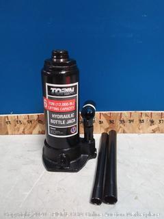 Torin 6-Ton Bottle Jack with Case Hydraulic Black Steel Heavy Duty