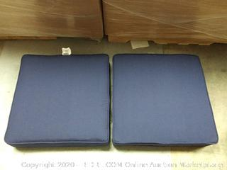 Patio Chair Cusions: Navy Blue - 2 ct.