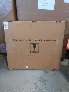 Pleasant Hearth Colby Sunlight Nickel Medium Cabinet-Style Fireplace Doors with Smoke Tempered Glass (online $245)
