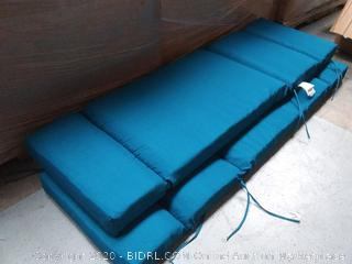 Patio Long Chiar Cushions: Blue - 2 ct.