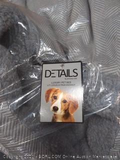 details luxury pet bed