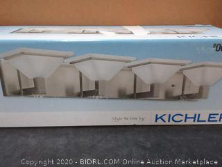 Kichler 4-Light Brushed Nickel Square Bathroom Dimmable Vanity