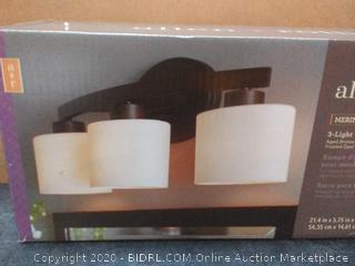 Allen + roth Merington 3-Light Bronze Transitional Vanity Light Bar